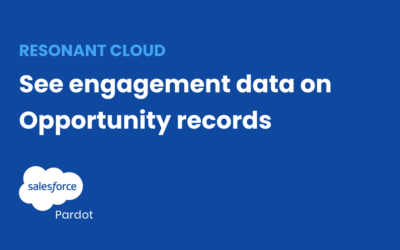 View and access engagement data on opportunities